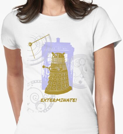 Dalek EXTERMINATE Fade Shirt Womens Fitted T-Shirt