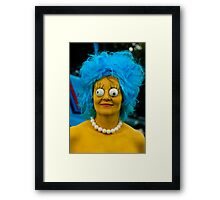 Will the real Marge stand up! Framed Print