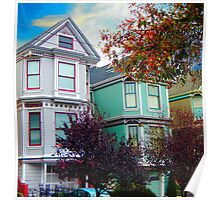 San Francisco Gingerbread Houses Poster