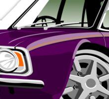 Ford Cortina 1600E aubergine caricature Sticker