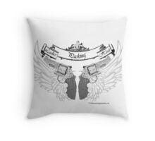 ladies wings Throw Pillow