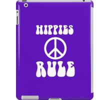 Awesome Hippies Rule - 60s T-Shirt With Peace Sign iPad Case/Skin