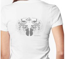 ladies wings up Womens Fitted T-Shirt