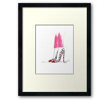 Super Hot Pink Pants Framed Print