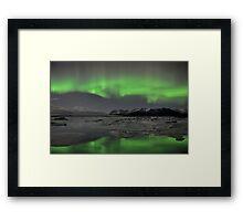 Aurora Borealis - Jokulsarlon Glacial Lagoon, Iceland Framed Print