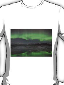 Aurora Borealis - Jokulsarlon Glacial Lagoon, Iceland T-Shirt