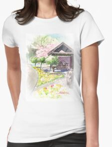 Spring in Maxell Cherry Gardens Womens Fitted T-Shirt