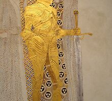 Knight Detail from the Beethoven Frieze by Gustav Klimt by Adam Asar
