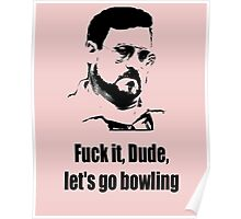 Let's go bowling Poster