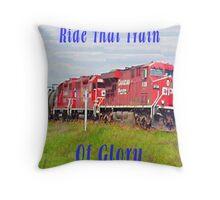 Train of Glory Throw Pillow