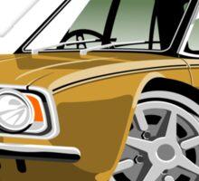 Ford Cortina 1600E gold caricature Sticker