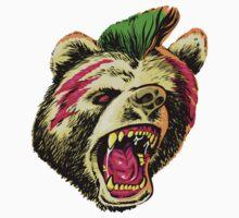 Rad Bear Big Hair Don't Care by Ron Ott