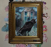 Two Crows - Framed by Nancy Mauerman