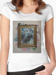 Two Crows - Framed Women's Fitted Scoop T-Shirt