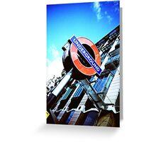 The London Underground Greeting Card