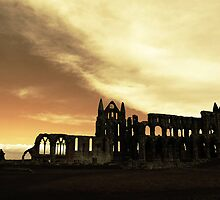 the abbey on the hill by Graham Rhodes
