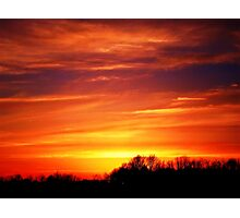 golden hour time Photographic Print