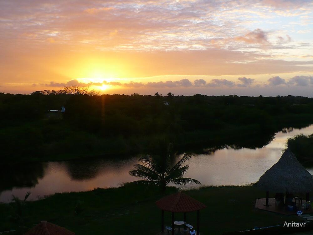 Sunset Rio Chico by Anitavr