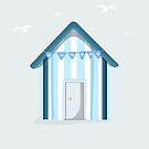 Little Blue Beach Hut by Prettyinpinks