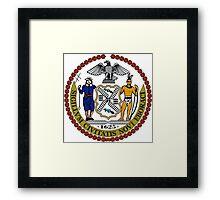 Seal of New York City  Framed Print
