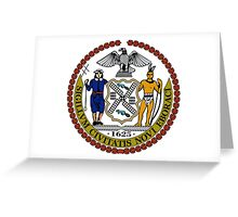 Seal of New York City  Greeting Card