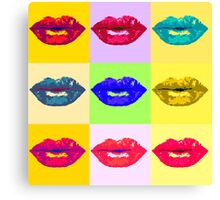 Pop Kiss Canvas Print