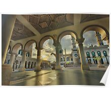 Aisle of Samarinda Mosque.. Poster