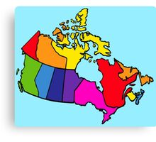 Rainbow Canada Map Canvas Print