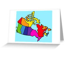 Rainbow Canada Map Greeting Card