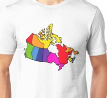 Rainbow Canada Map Unisex T-Shirt