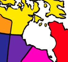 Rainbow Canada Map Sticker