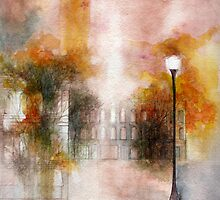 oldtown in fall  * special order prints: tokikoandersonart@gmail.com by TokikoAnderson