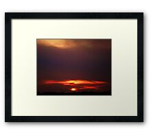 rockin sunset Framed Print