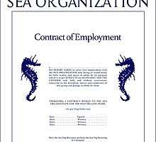 Sea Org Contract by FinlayMcNevin