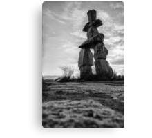 Stone Man That Points The Way Canvas Print