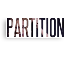 """Partition"" from Beyoncé (Black and White) Canvas Print"