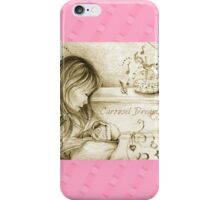 Vintage Carousel Dreams Pink iPhone Case/Skin