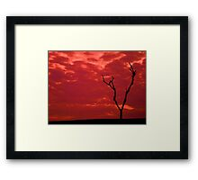 red hour  Framed Print
