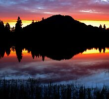 Dawn Reflections, Sprague Lake by Stephen Vecchiotti