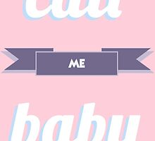EXO CALL ME BABY TYPOGRAPHY PASTEL by katieamos