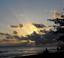 The last moment before the sun would set..... in Rincon, PR by EMElman