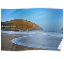 Morning Seascape: Portreath Cornwall Poster
