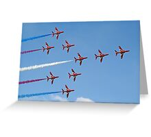 Concorde - The Red Arrows - Dunsfold 2013 Greeting Card