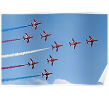 Concorde - The Red Arrows - Dunsfold 2013 Poster