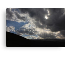 Growing darkness Canvas Print