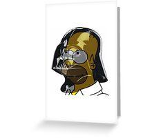 Darth Homer Greeting Card