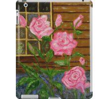 Royal Roses, pink flowers, impressionism art iPad Case/Skin