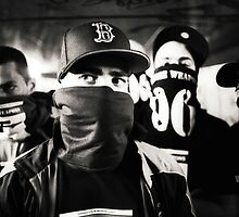 Rap hiphop gangsters black and white analog silver gelatin photo by edwardolive