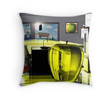 Toast to Rene Magritte Throw Pillow