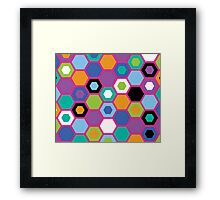 Multi-Color Matrix Framed Print